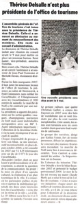 Article sur l'Assembl e G n rale de l'Office de Tourisme
